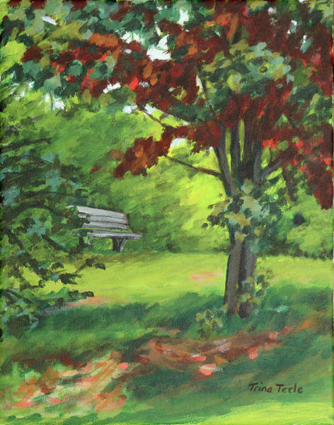 Painting - Bartlet Park by Trina Teele