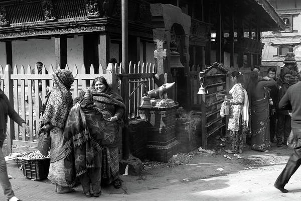 Photograph - Pilgrims In Kathmandu Durbar Square, Nepal  by Aidan Moran