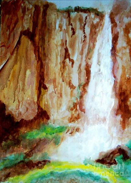 Painting - Basaseachl Falls Retreat Of Tarahumara by Stanley Morganstein