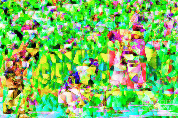 Wall Art - Photograph - Baseball Batter Sluuger In Abstract Cubism 20170329 by Wingsdomain Art and Photography