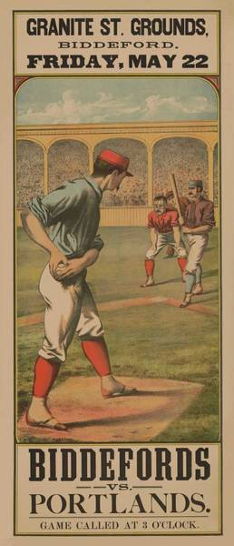 Mixed Media - Baseball Biddefords Vs Portlands May 22 1885 by Movie Poster Prints