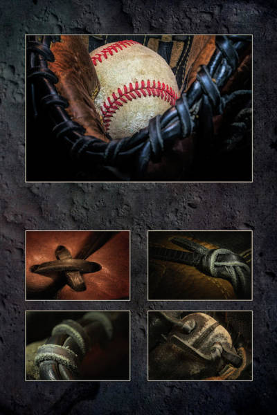Gloves Photograph - Baseball Collage I by Tom Mc Nemar