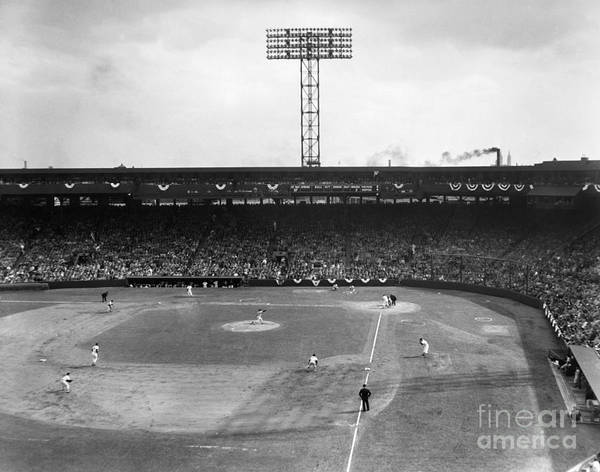 Orioles Wall Art - Photograph - Baseball: Fenway Park, 1956 by Granger