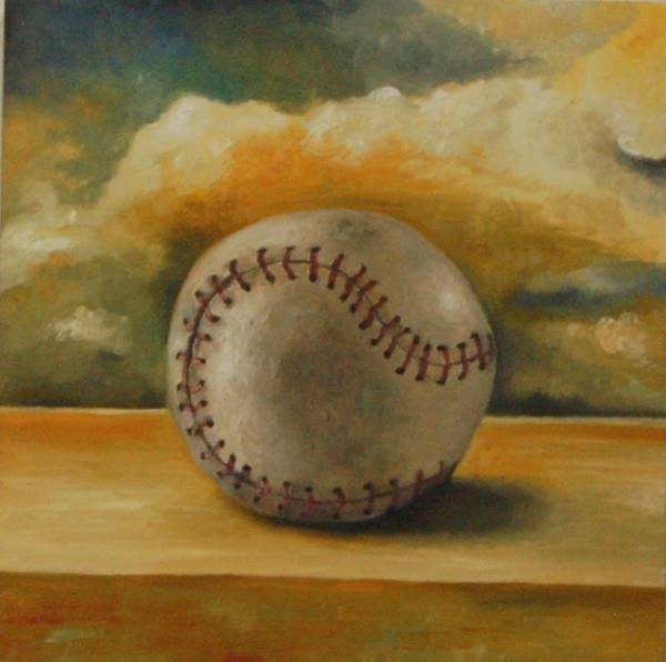 Painting - Baseball by Leah Saulnier The Painting Maniac