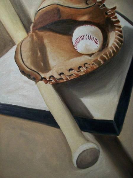 Wall Art - Painting - Baseball by Mikayla Ziegler