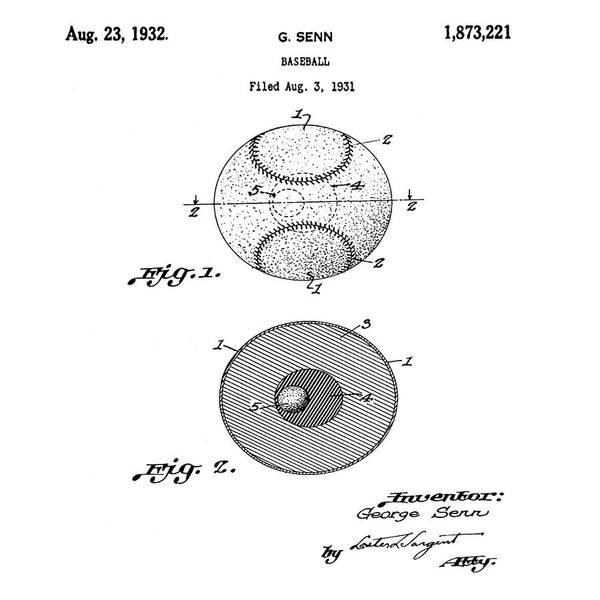 Photograph - Baseball Patent 1832  by Bill Cannon