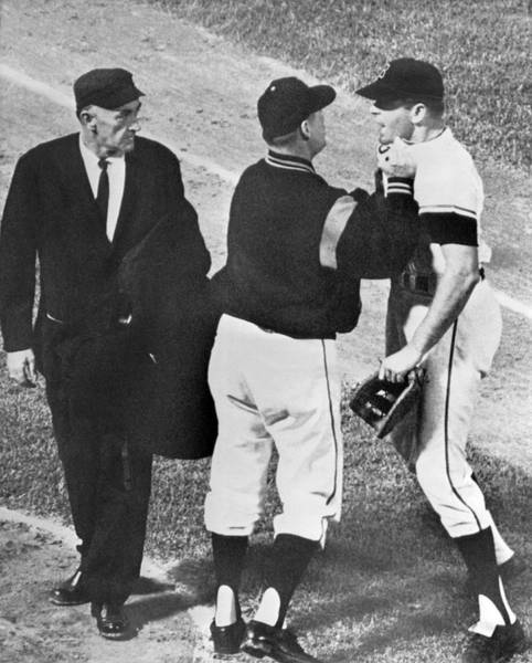 Wall Art - Photograph - Baseball Player Ejected by Underwood Archives