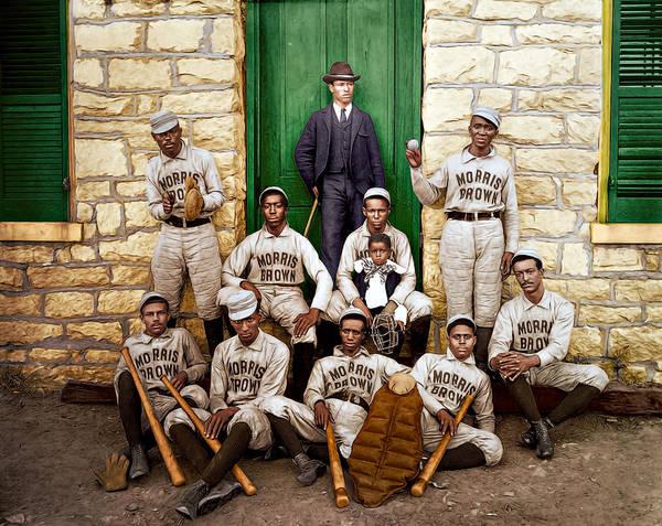 College Baseball Photograph - Baseball Players by Maria Coulson