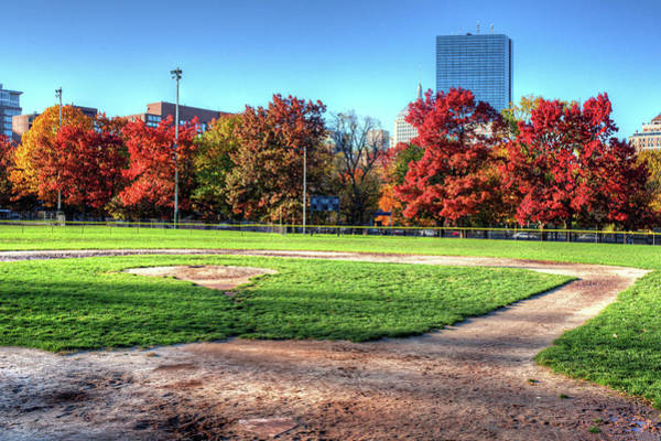 Photograph - Baseball Season Is Over Boston Ma Boston Common Baseball Field by Toby McGuire