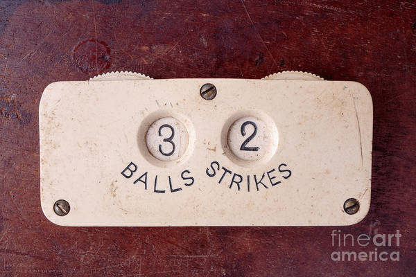 Keeper Photograph - Baseball Umpire Count Keeper by Edward Fielding