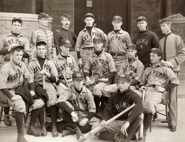 1896 Photograph - Baseball: West Point, 1896 by Granger