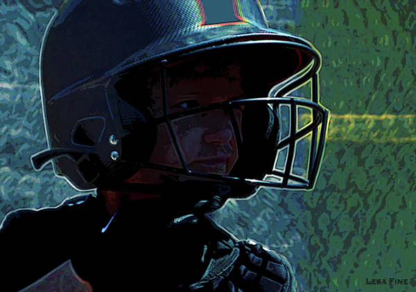 Mixed Media - Baseball Guesstamation Art 2 by Lesa Fine