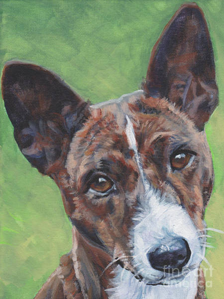 Wall Art - Painting - Basenji Dog Painting by Lee Ann Shepard