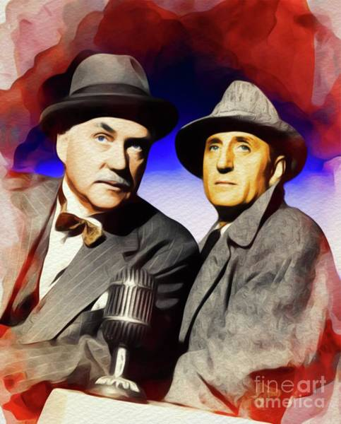Wall Art - Painting - Basil Rathbone And Nigel Bruce, Sherlock And Watson by John Springfield