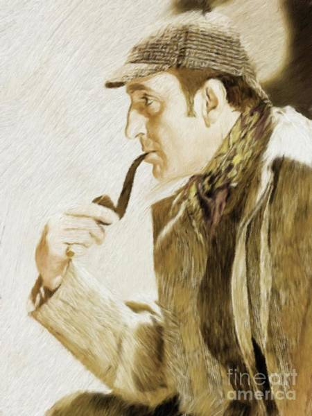 Stardom Painting - Basil Rathbone As Sherlock Holmes by Mary Bassett