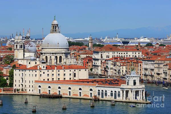 Basilica Della Salute And Punta Della Dogana In Venice Italy Art Print