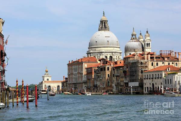 Basilica Della Salute And Punta Della Dogana On The Grand Canal Art Print