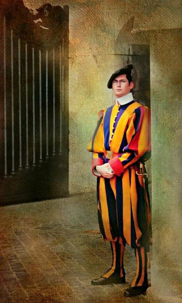 Wall Art - Photograph - Roman Basilica Guard by Diana Angstadt