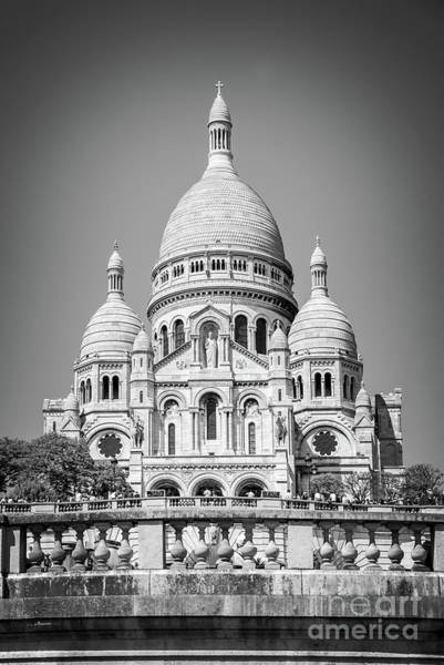 Wall Art - Photograph - Basilica Of The Sacred Heart In Montmartre by Delphimages Photo Creations