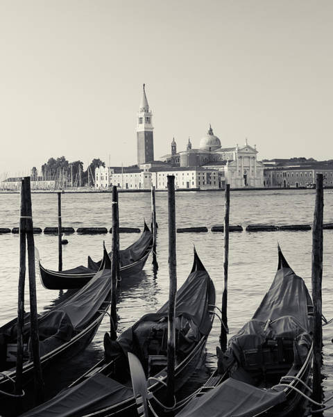Photograph - Basilica San Giorgio Maggiore And Gondolas by Richard Goodrich