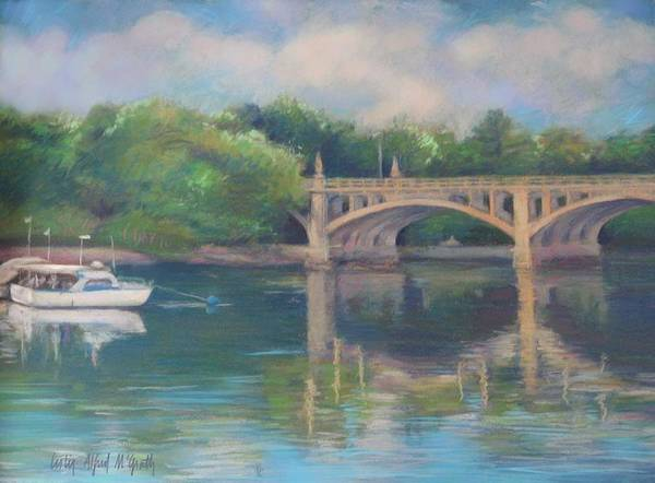 Wall Art - Painting - Basiliere Bridge Haverhill Ma by Leslie Alfred McGrath