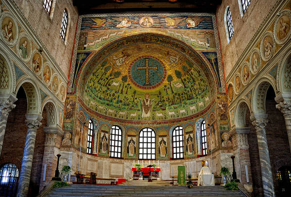Photograph - Basilica Of Sant' Apollinare In Classe by Nigel Fletcher-Jones
