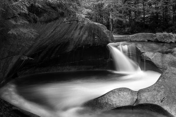 Photograph - Basin Pool - Franconia Notch Nh by T-S Fine Art Landscape Photography