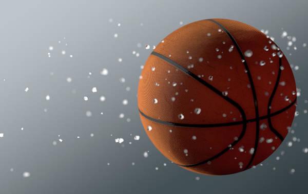 Wake Up Digital Art - Basket Ball In Flight by Allan Swart