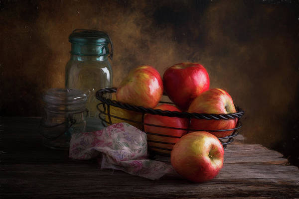 Ripe Photograph - Basket Of Apples by Tom Mc Nemar