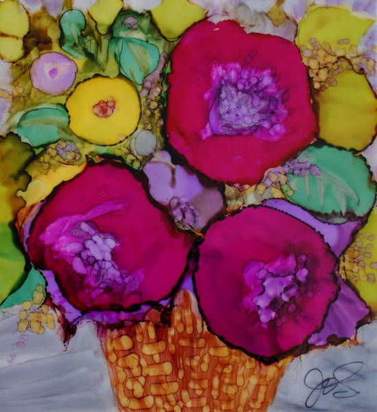 Painting - Basket Of Blooms by Joanne Smoley
