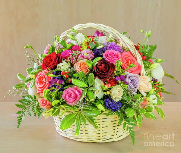 Floristry Photograph - Basket Of Flowers For Mom by Viktor Birkus