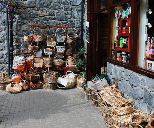 Wicker Basket Digital Art - Basket Shop  by Chris Evans