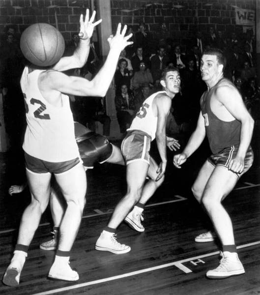 Photograph - Basketball Player Head by Underwood Archives