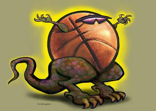 Basketball Saurus Rex Art Print
