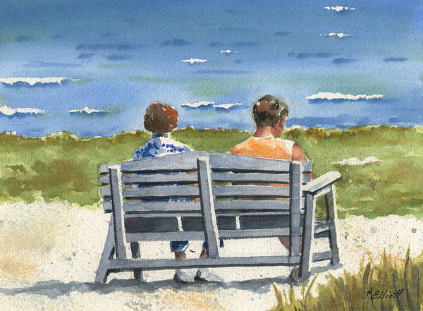 Sunbathing Painting - Basking by Marsha Elliott