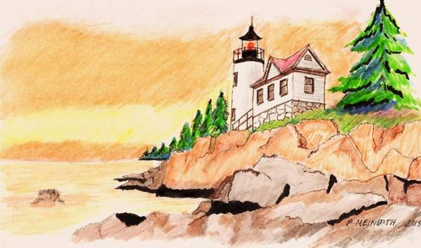 Bass Harbor Head Lighthouse Art Print by Paul Meinerth