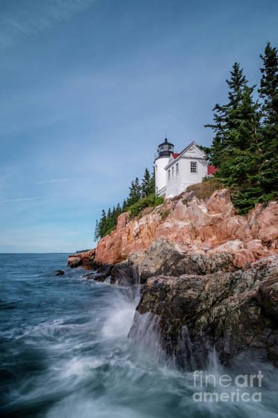 Headlights Wall Art - Photograph - Bass Harbor Head Lighthouse by DiFigiano Photography
