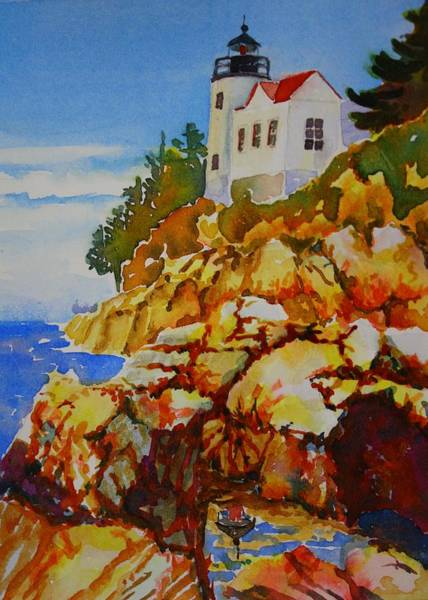 Bass Harbor Light House Art Print