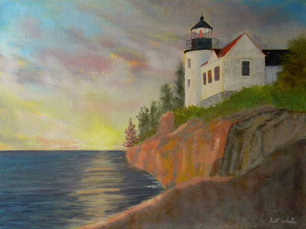 Bass Harbor Light Art Print