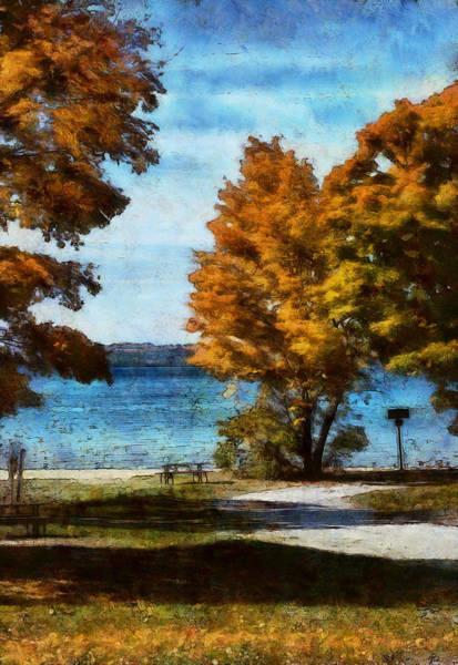 Digital Art - Bass Lake October by JGracey Stinson
