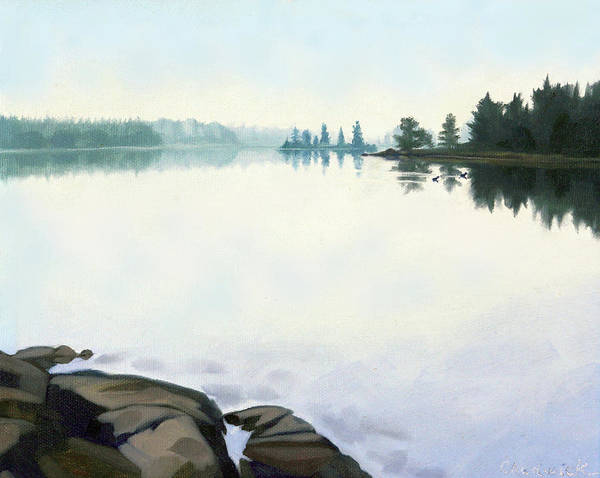 Wall Art - Painting - Bass Lake Restoule by Phil Chadwick
