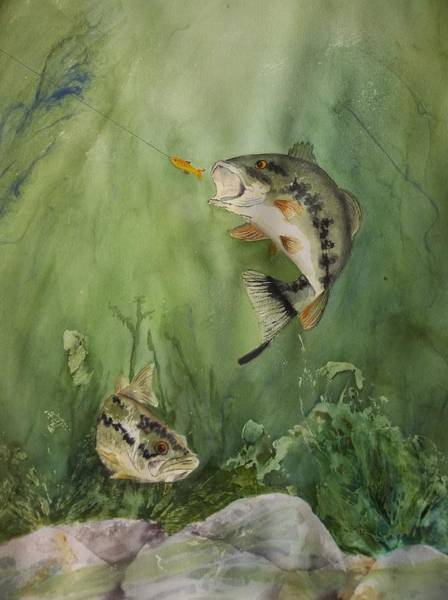 Painting - Bass On The Bottom by Audrey Bunchkowski
