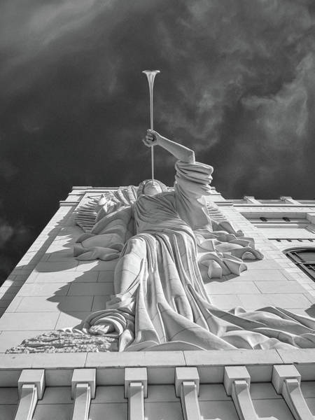 Photograph - Bass Performance Hall Angel by Guy Whiteley