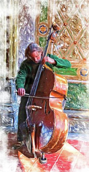 Photograph - Bass Player In The Angel Tunnel by Alice Gipson