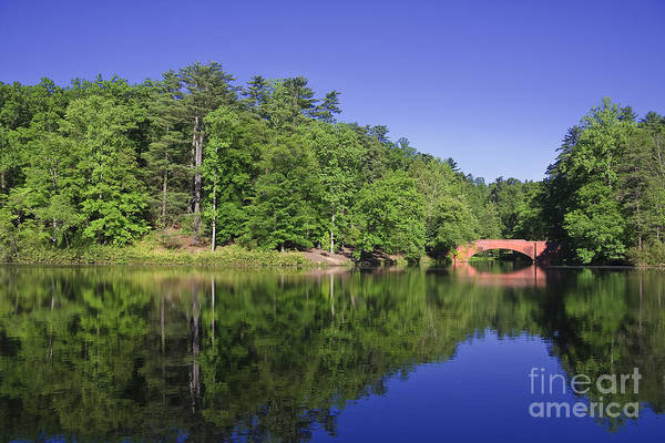 Photograph - Bass Pond With The Bridge by Jill Lang