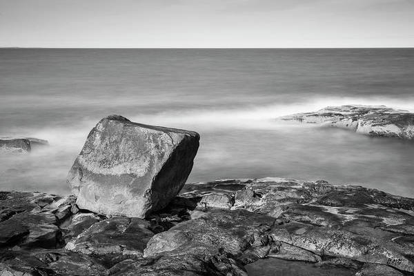 Photograph - Bass Rocks Gloucester Ma I Bw by David Gordon
