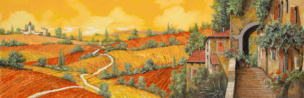 Oil Painting - Bassa Toscana by Guido Borelli