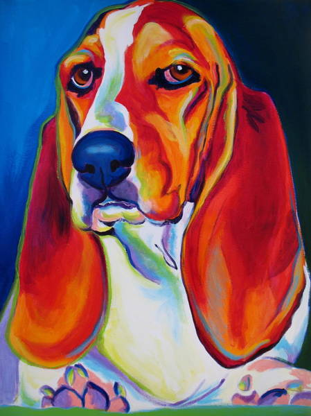 Wall Art - Painting - Basset Hound - Maple by Alicia VanNoy Call