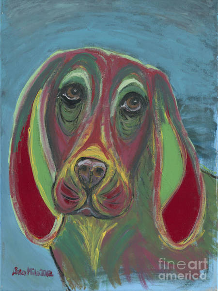 Painting - Basset Hound Abstract by Ania M Milo