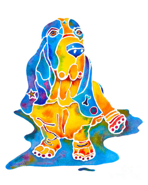 Painting - Basset Hound Art Prints by Jo Lynch